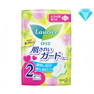 Laurier 4* higieniniai įklotai su sparneliais 20.5cm 44 (22x2) vnt