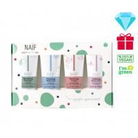 Naïf Baby & Kids Mini Kit–4 produktų mini kelioninis rinkinys, 15ml x 4