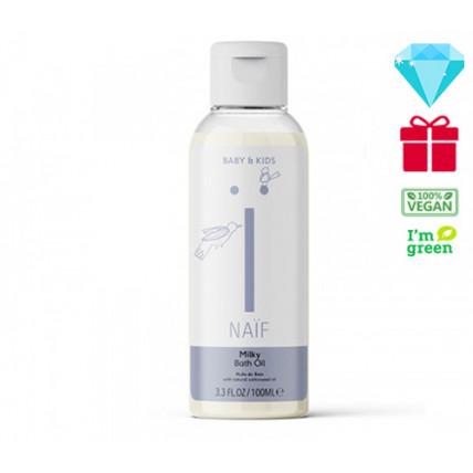 Naïf Baby & Kids Care švelnus aliejinis vonios pienelis pagrindu, skirtas visų tipų odai 100ml