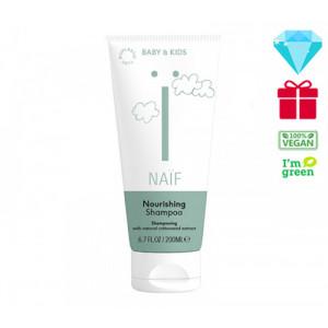 Naïf Baby & Kids Care maitinamasis šampūnas kūdikiams, tinkantis visų tipų plaukams 200ml
