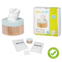 Baby Art 3D Sculpture Kit nuotraukų rėmelis rankų ar kojų atspaudams gaminti