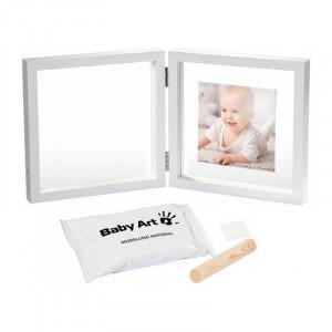 Baby Art dvigubas nuotraukų rėmelis su atspaudu