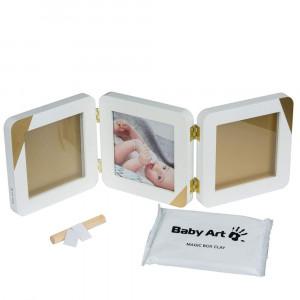 Baby Art trigubas nuotraukų rėmelis su atspaudu