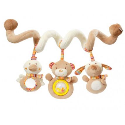 BabyFehn vaikiška žaislinė spiralė, tvirtinama prie vežimėlio, lovos ar automobilio sėdynės
