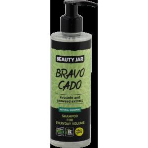 """Beauty Jar """"Bravocado''-šampūnas kasdieniai plaukų apimčiai su avokadais ir jūros dumblių ekstraktu 250ml"""