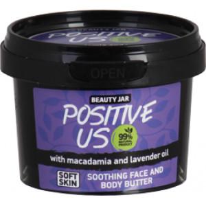 """Beauty Jar """"Positive Us""""-atpalaiduojantis sviestas veidui ir kūnui 90g"""