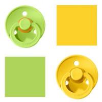 Bibs Lime/Pineapple Čiulptukas (nipelis) iš 100% natūralaus kaučiuko - vyšnios forma 0–6 mėn. (2 vnt.)