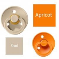 Bibs Sand/Apricot Čiulptukas (nipelis) iš 100% natūralaus kaučiuko - vyšnios forma 6–18 mėn. (2 vnt.)
