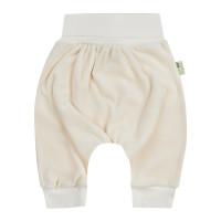 Bio Baby Vaikiškos veliūrinės organinės medvilnės kelnės su plačiu diržu
