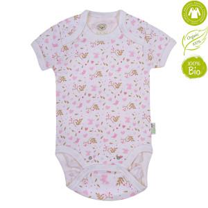 Bio Baby Vaikiškas organinės medvilnės bodis trumpomis rankovėmis