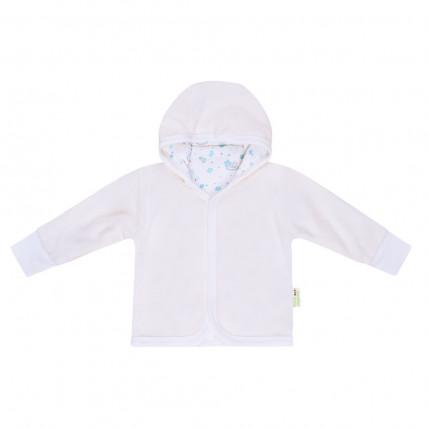 Bio Baby Vaikiškas veliūrinis sportinis džemperis su gobtuvu