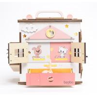 Boobo Toys Busy Cube Medium užimtumo kubelis mergaitėms