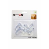 Britton B1810 Skaidrios kampų apsaugos nuo vaikų, 4 vnt.