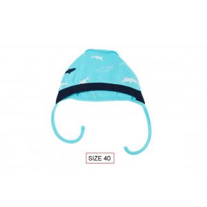 Cango Kepurė naujagimiams, SHARK dydis 40, 100% medvilnė