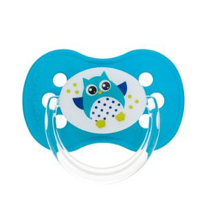 Canpol Babies Owl baby 22/570 simetriškas silikoninis čiulptukas, skirtas 18 mėnesių vaikams