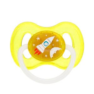Canpol Babies Space 23/221 vyšnios formos lateksinis čiulptukas, skirtas 0–6 mėnesių vaikams