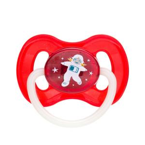 Canpol Babies Space 23/222 vyšnios formos lateksinis čiulptukas, skirtas 6–18 mėnesių vaikams