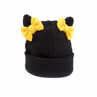 Vaikiška medvilninė kepurėlė su kaspinėliais
