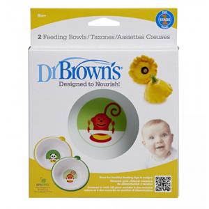 Dr.Browns 730 Neslidūs maisto dubenėliai, 2 vnt., 6 mėn. +