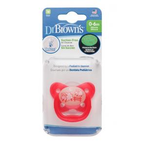 Dr.Browns PV11007 čiulptukai naktį šviečiantis 0-6 mėn., rožinis