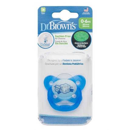 Dr.Browns PV11008 čiulptukai naktį šviečiantis 0-6 mėn., mėlynas
