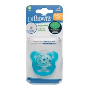 Dr.Browns PV21008 čiulptukai naktį šviečiantis 6-12 mėn., mėlynas