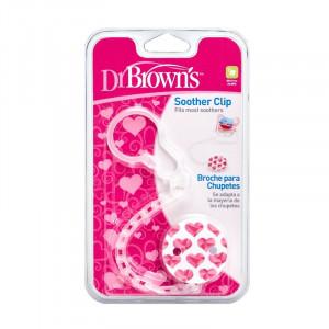 Dr.Browns AC037 Grandinėlė čiulptukui su spaustuku, plastikinė