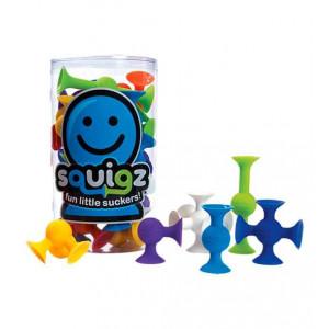 Fat Brain Toys FA088-1 Squigz (24vnt) lipšniukai