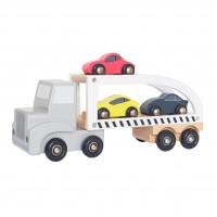 JaBaDaBaDo W7152 Medinė vaikiška priekaba su automobiliais