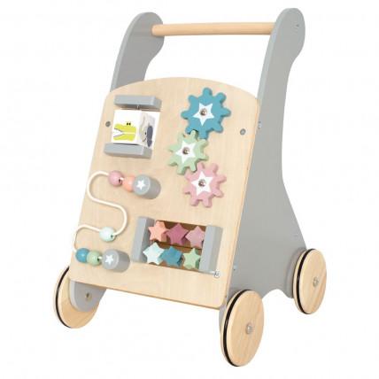 """JaBaDaBaDo W7176 """"Push Walker"""" / """"Stumdukas"""" Mokomasis medinis žaislas – vaikštynė"""