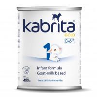 Kabrita Gold 1 400g dirbtiniai sausas pieno mišinys iš ožkos pieno pagrindo, skirtas patogiam virškinimui 0–6 mėnesių vaikams