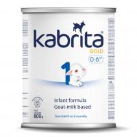 Kabrita Gold 1 800g dirbtiniai sausas pieno mišinys iš ožkos pieno pagrindo, skirtas patogiam virškinimui 0–6 mėnesių vaikams