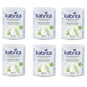 Kabrita 3 800g sausi pieno gėrimas iš ožkos pieno pagrindu, skirtas patogesniam virškinimui vyresniems nei vienerių metų vaikams 6x800g