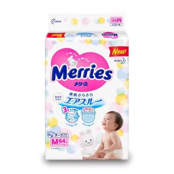 Sauskelnės Merries M 6-11 kg