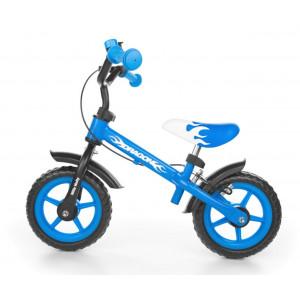 Milly Mally Dragon Vaikiškas balansinis dviratis su metaliniu rėmu ir rankiniu stabdžiu