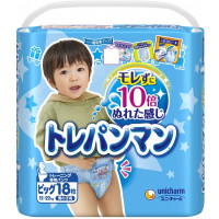 Moony japoniškos kelnaitės berniukams, skirtos pratinti prie tualeto BIG 12-22kg berniukams 18vnt