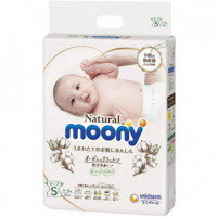 Sauskelnės Moony Natural S 4-8kg