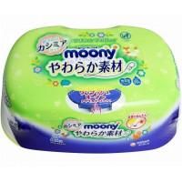 Moony drėgnos servetėlės dėžutėje + 1 drėgnų servetėlių pakuotė*80 vnt