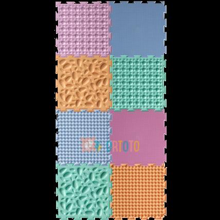 Ortoto masažinių kilimėlių rinkinys - Pastele