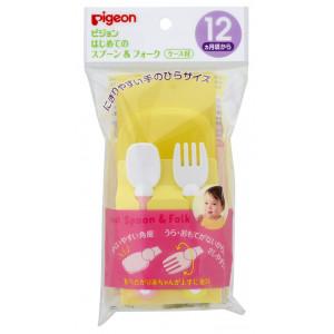Pigeon kūdikių maitinimo šaukštelis ir šakutė su dėklu,1vnt