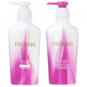 """Shiseido """"Tsubaki Volume"""" plaukų šampūnas+Shiseido """"Tsubaki Volume"""" plaukų kondicionierius 450ml+450ml"""