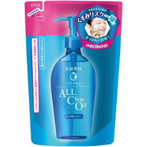 """Shiseido """"Senka"""" aliejinis makiažo valiklis su hialurono rūgštimi užpildas 180ml"""