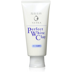 Shiseido Senka Perfect White Clay prausimosi putos su baltuoju moliu 120g