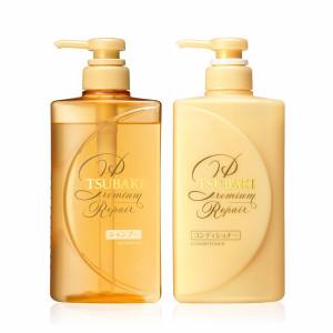 Shiseido Tsubaki Premium Repair šampūnas 490ml+Shiseido Tsubaki Premium Repair plaukų kondicionierius 490ml