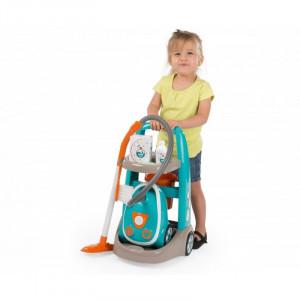 Smoby 330309S valymo vežimėlis + elektrinis dulkių siurblys