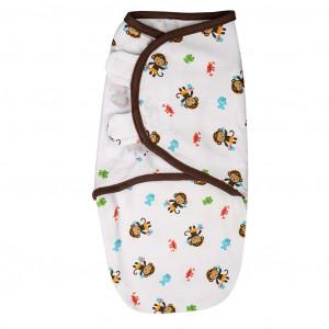 Summer Infant 52484 SwaddleMe medvilninis vystyklas/kaldrelė patogiam vaikelio miegui, nuo 3.2 kg iki 6.4 kg.