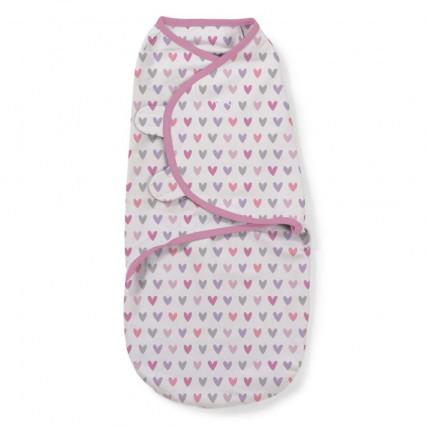 Summer Infant 55656 SwaddleMe medvilninis vystyklas/kaldrelė patogiam vaikelio miegui, nuo 3.2 kg iki 6.4 kg.