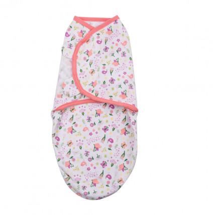 Summer Infant 566664 SwaddleMe medvilninis vystyklas/kaldrelė patogiam vaikelio miegui, nuo 3.2 kg iki 6.4 kg.