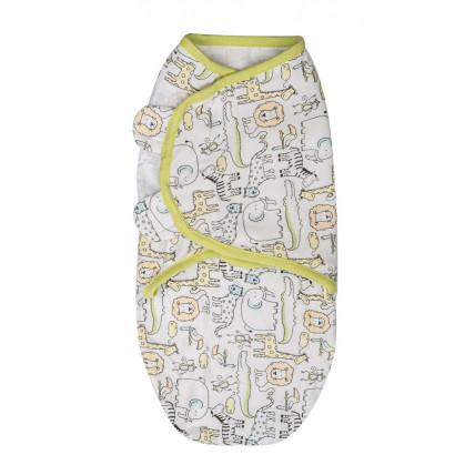 Summer Infant 572764 SwaddleMe medvilninis vystyklas/kaldrelė patogiam vaikelio miegui, nuo 3.2 kg iki 6.4 kg