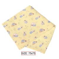 Medvilninė antklodė kūdikiams BEARS 75x75 cm
